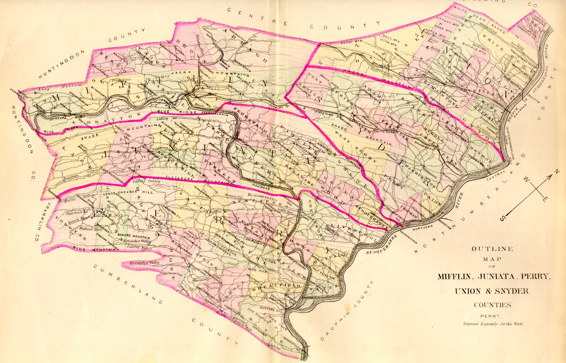 Union Co 1868 Atlas Warrantee Map Further Resources